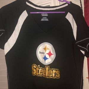 Tops - Steelers Glitter T